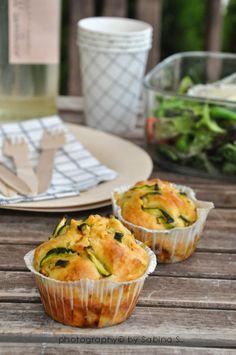 Muffin con zucchine, pomodorini confit e formaggio Leerdammer