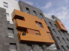We are exporter, supplier and manufacturer of fireproof aluminium composite panel, fire resistance ACP, fire proof ACP. Alucobond Cladding, Wall Section Detail, Asturias Spain, Metal Panels, Wall Cladding, Wooden House, Composition, Multi Story Building, Europe