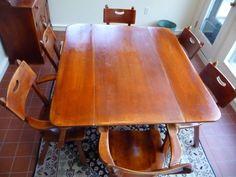 radius edge Cushman table  love radius edges on furniture rather than sharp edges