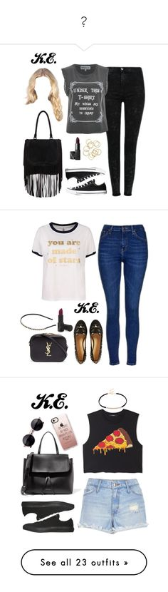 """✨"" by marymariamary ❤ liked on Polyvore featuring Wildfox, NARS Cosmetics, Barbara Bui, Converse, Topshop, Charlotte Olympia, Yves Saint Laurent, Cara, Forever 21 and River Island"
