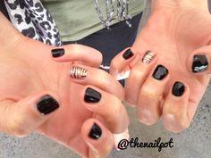 #shellac #zebra #nailart follow me on instagram for more ideas @thenailpot xx