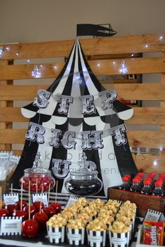 The Night Circus Party 20181123 Circus Party Decorations, Circus Theme Party, Circus Birthday, 10th Birthday, Party Themes, Party Ideas, Circus Aesthetic, Book Club Parties, Night Circus