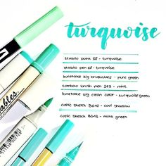 [Comment your favourite stationery ♀️ - Turquoise swatch ❤ Stabilo Point, Stabilo Pen 68, Stationary Store, Bullet Journal Notes, Cute School Supplies, Pretty Notes, Cute Stationery, School Notes, Study Notes