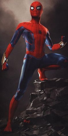 In which Spider-Man's suit receives design changes. Spiderman Suits, Spiderman Art, Amazing Spiderman, Spiderman Sketches, Spiderman Cosplay, Marvel Drawings, Marvel Comics, Marvel Art, Marvel Heroes