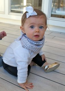 Scibbi! The best baby invention ever.  Scarf + bib with diaper fabric & cotton to help drooling teething babies stay dry!!