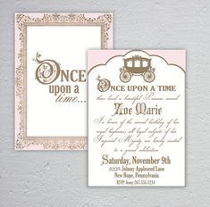 Elegant Once Upon a Time Birthday or Baby Shower by Dazzleology, $20.00