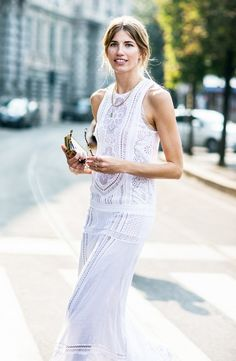 Tip of the Day: White Lace Dress (maxi)