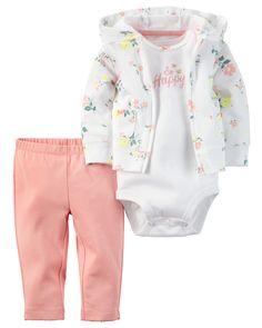 Baby Girl 3-Piece Babysoft Cardigan Set   Carters.com