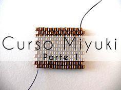 Curso Abalorios - Tecnicas con Miyuki ( Peyote Par ) - parte - Like this way of starting Peyote Peyote Beading, Seed Bead Tutorials, Beading Tutorials, Peyote Patterns, Beading Patterns, Diy Jewelry Videos, Diy Jewelry, Beaded Jewelry, Bead Loom Patterns