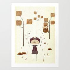 Girl Among Trees Art Print by InWONDER - $16.00