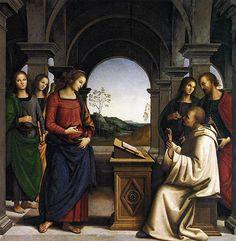 La visión de San Bernardo Perugino, h. 1488-1494.