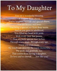 Personalised To My Daughter Poem Birthday Anniversary Christmas Gift Present - Personalised For A Special Sister Poem. ie To Emma. Love Mom Quotes, Niece Quotes, Daughter Love Quotes, I Love My Daughter, Family Quotes, Child Quotes, Quotes Quotes, Special Daughter Quotes, Girl Quotes