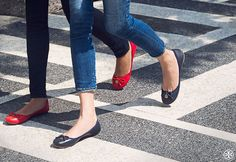 The perfect pair: Skinny jeans + Tory Burch Chelsea Ballet Flats