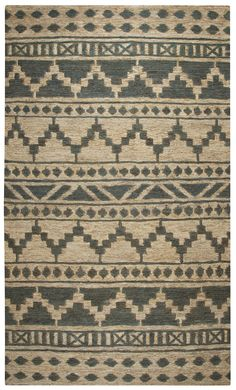 Rizzy Home Whittier WR9627 Sage Southwest/Tribal Area Rug