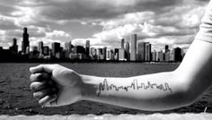 chicago skyline tattoo...wouldn't get this but it just looks cool!