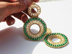 Ear Jewelry, Bead Jewellery, Seed Bead Jewelry, Jewelery, Jewelry Making, Jewelry Crafts, Beaded Earrings, Seed Bead Earrings, Unique Earrings