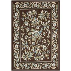 Safavieh Veranda Chocolate/Aqua Rectangular Indoor Machine-Made Throw Rug (Common: 3 X 5; Actual: 0.33-Ft W X 2.58-Ft L