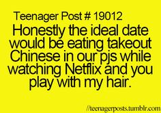 So I'm concerned that this is a teenager post and I'm a grown ass women but this sounds perfect to me :)