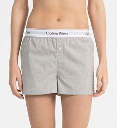 CALVINKLEIN PJ Shorts - Modern Cotton - GREY HEATHER - CALVIN KLEIN WOMEN - main image