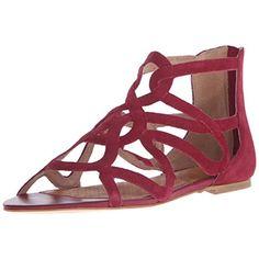 Corso Como Womens Surrey Suede Caged Flat Sandals
