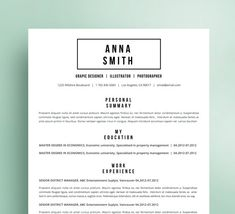 References Sheet Template Custom Creative Resume Template For Word Professional Cv Modern  Creative .