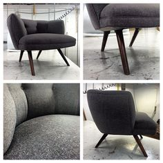 Grey wool chair for one of our U-Fab customers.