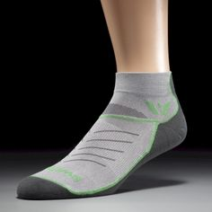 VIBE ONE Pewter/Green/Gray Compression Socks by Swiftwick