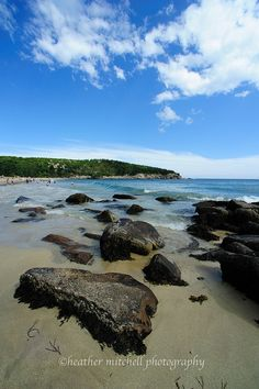 Acadia National Park..I believe we have some video off my husband almost falling off  these rocks with our 7 month old.