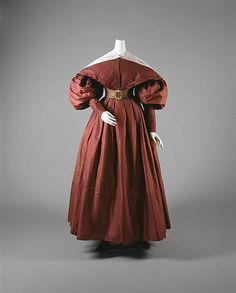 Silk ensemble, dated c. 1835, American, Metropolitan Museum of Art collection: 26.250.1a, b