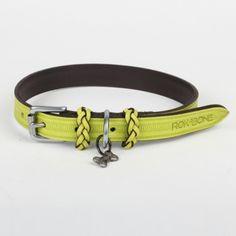 Rokabone leather dog collar