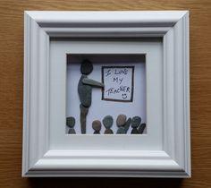 SOLD Pebble Art: Teacher's favour by CornishPebbleArt on Etsy https://www.etsy.com/listing/239492378/sold-pebble-art-teachers-favour