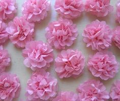 "door decs, tissue paper flowers, ""green"" theme"