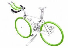 this shop is a gold mine for the bike lover - different colours, different kinds of bikes (triathlon, mountain bike etc) it has it all! Triathlon Bike with Light Green Wheels Aero-bars  & by OzWireArt