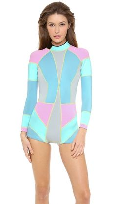 Cynthia Rowley Colorblock Wetsuit - so cute for surfing or paddleboarding!
