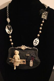 Artful Play: Flea Market Finds Turns Into New Necklace