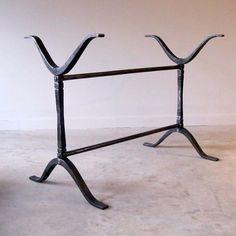 Wrought Iron Wishbone Trestle Table Base   R.