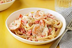 Kraft (Summer 2013): Creamy Shrimp Diavolo - Looking for a devilishly delicious pasta recipe? Try our fettuccine and shrimp dish with creamy sauce.