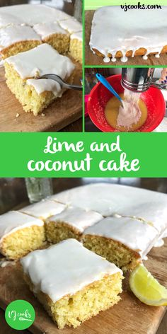 Try gf sr flour. Dairy-free lime and coconut cake, easy recipe from VJ cooks. Lime and coconut sheet cake, lime and coconut tray cake. dairy free coconut and lime cake. Lemon and coconut cake. Coconut Cake Easy, Coconut Sheet Cakes, Lemon And Coconut Cake, Coconut Slice, Lime Recipes, Easy Cake Recipes, Baking Recipes, Sweet Recipes, Easy Desserts