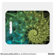 seat cushion created by AleksandraStepien. Stadium Seat Cushions, Stadium Seats, Golden Yellow, Blue Green, Logo For School, Geometric Flower, Ice Fishing, Fractals, Light In The Dark