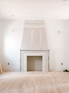 A Faux Concrete Fireplace DIY Starring Drywall and Two Cans of Paint Concrete Fireplace, Fireplace Hearth, Fireplace Design, Fireplaces, Painting Concrete, Diy Painting, Exterior Design, Interior And Exterior, Bedroom Fireplace