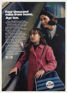KLM Airlines Stewardess Girl Raytheon Computer (1971)