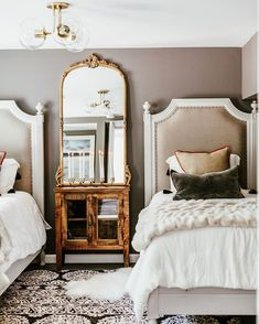 Inspired by Greco-Roman architecture and furnishings, neoclassical French design rose to popularity Home Bedroom, Bedroom Decor, Bedroom Ideas, French Country Bedrooms, Guest Bedrooms, Guest Room, Beautiful Bedrooms, Cheap Home Decor, Interior Design