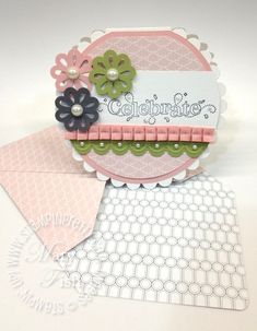 Envelope Tutorial, Mary Fish, Stampin Pretty, Custom Envelopes, Pretty Cards, Creative Cards, Cool Cards, Flower Cards, Scrapbook Cards
