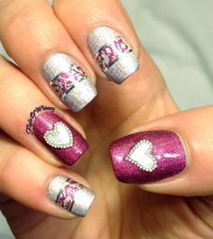 30 cute nail art designs for 2016 - Real Hair Cut / Shweshwe Dresses 2017 Cute Pink Nails, Pink Nail Art, Flower Nail Art, New Nail Art, Pretty Nails, Cute Nail Art Designs, Pink Nail Designs, Pretty Designs, Nails Design