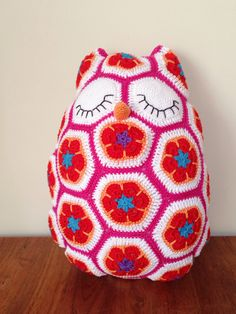 Maggie the owl (crochet - African flower) | Maggie de uil (gehaakt - Afrikaanse bloem)