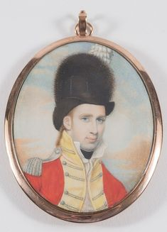 English School late 18th Century- A miniature portrait of an infantry officer…