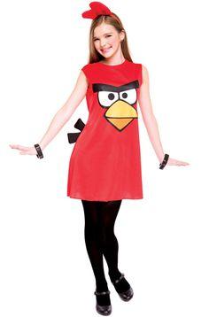 Angry Birds Red Bird Tween Costume #halloween #costumes