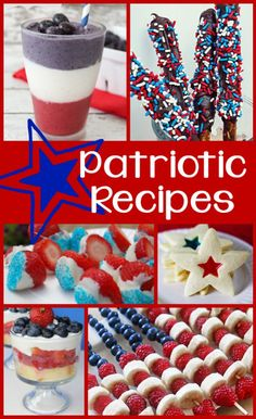 20 red, white, and blue Patriotic recipes - perfect for the 4th of July, Labor Day, or Memorial Day weekend parties