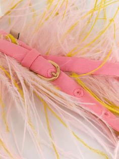 Emilio Pucci Fluffy Adjustable Belt - Farfetch Yellow Belt, Pink Yellow, Emilio Pucci, Accessories Shop