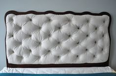 diamond tufted headboard by brick city love, via Flickr